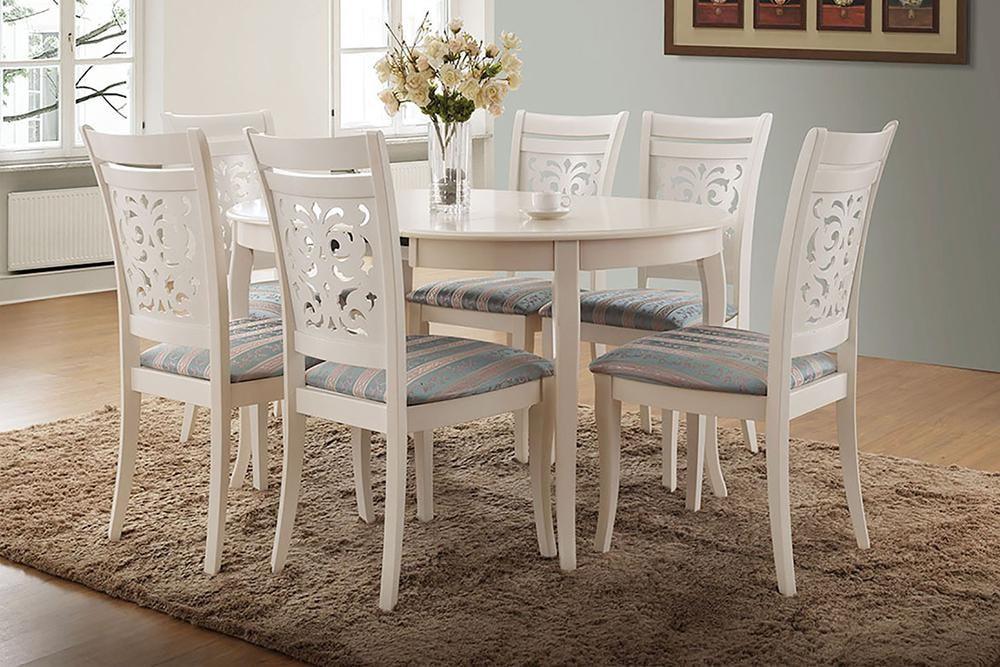 стол обеденный раздвижной белый милано Milano Ivory White слоновая кость